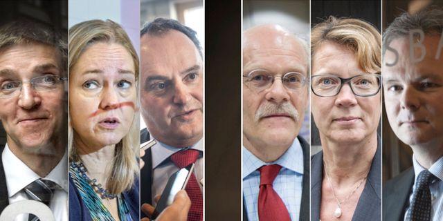 Riksbankens direktion. Arkivbilder. TT / SvD
