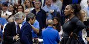 Serena Williams under US Open-finalen.  Julio Cortez / TT / NTB Scanpix