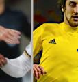 Pontus Wernblooms CSKA Moskva och Zlatan Ibrahimovic i Manchester United. Arkivbilder. TT