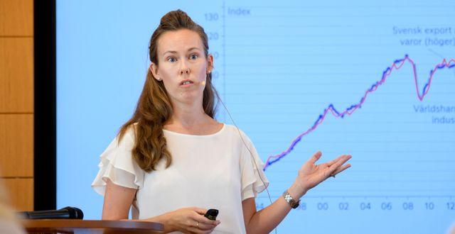 Nordeas chefsanalytiker Susanne Spector.  Jessica Gow/TT / TT NYHETSBYRÅN