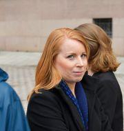 Jonas Sjöstedt och AnnieLööf. Jessica Gow/TT / TT NYHETSBYRÅN