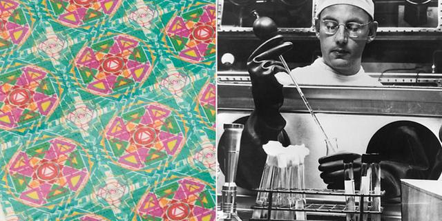 LSD-papper/Forskare på Fort Detrick på 50-talet. TT