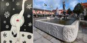 Liv Strömquists teckning som ställdes ut i Stockholms tunnelbana/Sölvesborg. Ines Micanovic/TT