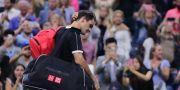 Roger Federer efter förlusten.  Charles Krupa / TT NYHETSBYRÅN