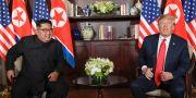USA:s president Donald Trump och Nordkoreas Kim Jong-Un träffades i Singapore i juni.  Evan Vucci / TT NYHETSBYRÅN/ NTB Scanpix