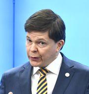 Talman Andreas Norlén.  Claudio Bresciani/TT / TT NYHETSBYRÅN