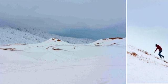 Upp till en meter snö täcker just nu stora delar av Sahara. Robinson Photography