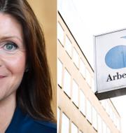 Eva Nordmark (S) är ny arbetsmarknadsminister med ansvar över bland annat Arbetsförmedlingen. TT