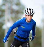 Charlotte Kalla under en träning tidigare i höstas.  Erik Mårtensson/TT / TT NYHETSBYRÅN