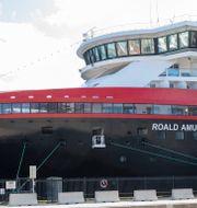 Hurtigrutens MS Roald Amundsen. Terje Pedersen / TT NYHETSBYRÅN