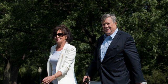 Viktor och Amalija Knavs, Melania Trumps föräldrar Manuel Balce Ceneta / TT / NTB Scanpix