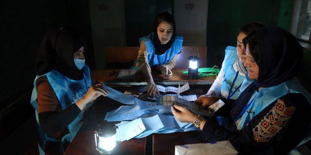 Valarbetare i Kabul. Rahmat Gul / TT NYHETSBYRÅN