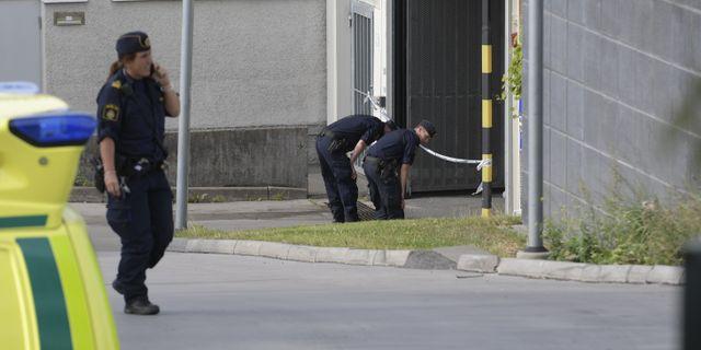 Polis på plats i Östberga 15 augusti 2017. Janerik Henriksson/TT / TT NYHETSBYRÅN