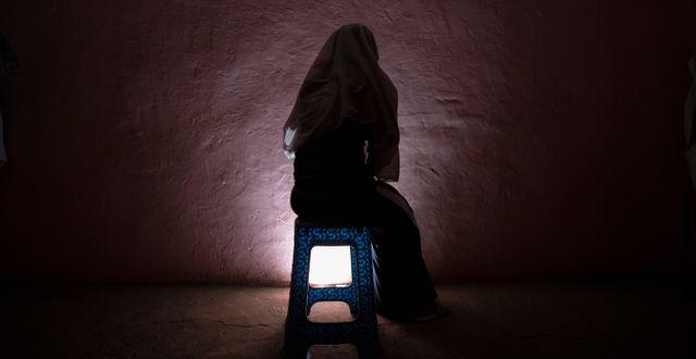 En kvinna som utsatts för övergrepp och flytt från Tigray. Nariman El-Mofty / TT NYHETSBYRÅN