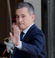 Nyutnämnde inrikesministern Gérald Darmanin på väg in i Elysseepalatset Francois Mori / TT NYHETSBYRÅN