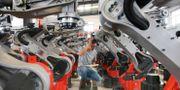 Illustrationsbild: En fabrik för industrirobotar i Jiangsuprovinsen i östra Kina.  TT NYHETSBYRÅN