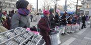 Women's March Stockholm och Me Too Sweden arrangerar en manifestation i januari 2018. Janerik Henriksson/TT / TT NYHETSBYRÅN