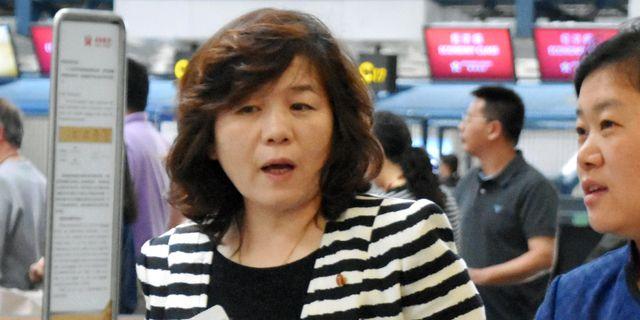 Arkivbild: Choe Son Hui på en flygplats i Peking på en bild från 2017. TT NYHETSBYRÅN/ NTB Scanpix