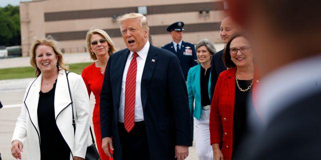 Trump i Iowa. Patrick Semansky / TT NYHETSBYRÅN