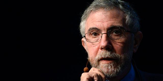Arkivbild. Paul Krugman under en konferens 2014.  ANDERS WIKLUND / TT / TT NYHETSBYRÅN