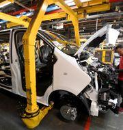 Vauxhall Vivaro-suv i Vauxhall-fabriken i Luton. Toby Melville / TT NYHETSBYRÅN