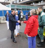 Löfven på besök vid Östra sjukhuset i Göteborg i förra veckan  Adam Ihse/TT / TT NYHETSBYRÅN