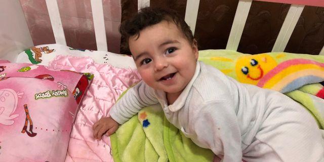 Vid sitt besök på barnhemmet träffade SR den lilla pojken Hamoudeh. Cecilia Uddén, Sveriges Radio