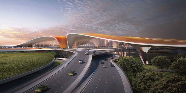 Världens största flygplats har börjat byggas utanför Peking. Zaha Hadid  Architects 1fc9ba6b74a54
