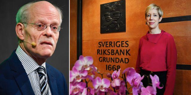 Riksbankschefen Stefan Ingves och och Anna Breman, ny vice riksbankschef. TT