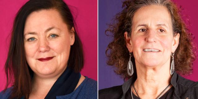 Stina Svensson och Denise Cresso Nydén. Feministiskt initiativ