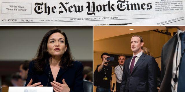 Sheryl Sandberg och Mark Zuckerberg.  TT