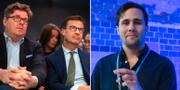 Gunnar Strömmer, Ulf Kristersson och Benjamin Dousa. Arkivbilder. TT
