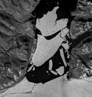 Isområdet som släppt från 79N European Space Agency / TT NYHETSBYRÅN