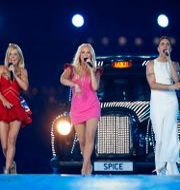 Spice Girls vid återföreningen i samband med ceremonin som avslutade sommar-OS i London 2012. Matt Dunham / TT NYHETSBYRÅN
