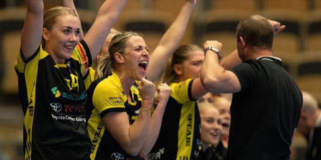 Sävehofjubel under den andra finalmatchen.  NICKLAS ELMRIN / BILDBYRÅN