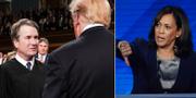 Brett Kavanaugh och Donald Trump, Kamala Harris under Demokraternas tredje primärvalsdebatt.