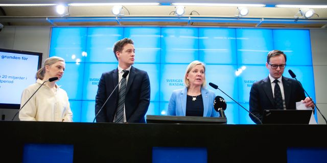 Bild från pressträffen  Fredrik Persson/TT / TT NYHETSBYRÅN