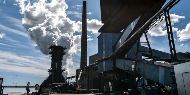 SSAB:s anläggning i Oxelösund.  Anders Wiklund/TT / TT NYHETSBYRÅN