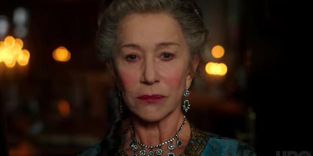 Helen Mirren som Catherine the Great. Skärmdump från trailer/HBO