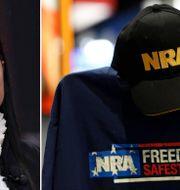NRA:s talesperson Dana Loesch/Gruppens keps och t-shirt.  TT