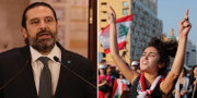 Saad Hariri/Demonstrante i Libanon. TT