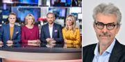 SVT:s Morgonstudion var ett av programmen som SD ville kritisera. Till höger: Lars Nord. SVT & Mittiuniversitetet.