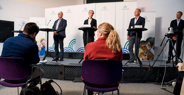 Arkivbild, Folkhälsomyndighetens pressträff. Erik Simander/TT / TT NYHETSBYRÅN