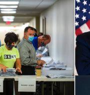 Rösträkning i Pennsylvania/Donald Trump. TT