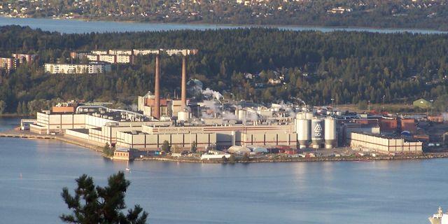 SCA:s stora pappersbruk Ortviken i Sundsvall. Arkivbild. Wikimedia Commons