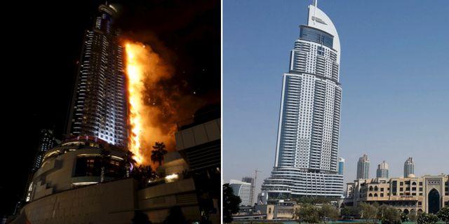 Overlevde stormen nu brann deras hotell