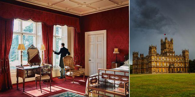 Tv-serien Downton Abbey är inspelad på slottet Highclere Castle i byn Hampshire i England. Airbnb/Simon Paulin TT