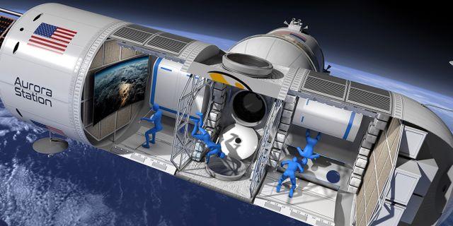 Hotellet blir tio meter långt och 3,5 meter brett, ungefär samma storlek som ett stort privatjet Orion Span