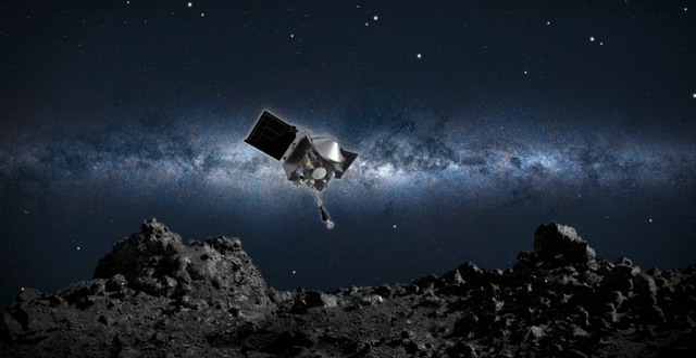 Osiris-Rex närmar sig asteroiden Bennu/Illustration. NASA/GODDARD/UOA
