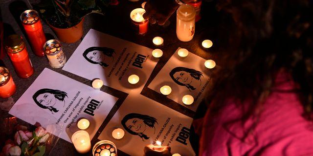 Journalisten Daphne Caruana Galizia på Malta mördades 2018. Jonathan Borg / TT NYHETSBYRÅN/ NTB Scanpix
